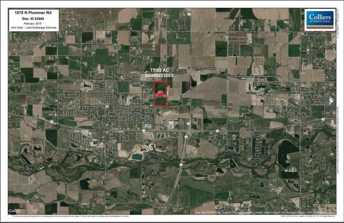 土地 为 销售 在 1078 N Plummer Road Star, 爱达荷州 83669