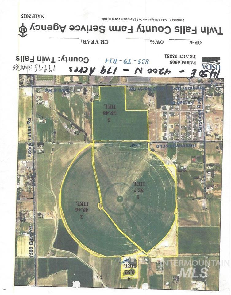 Land for Sale at 1440 E 4250 N. Buhl, Idaho 83316