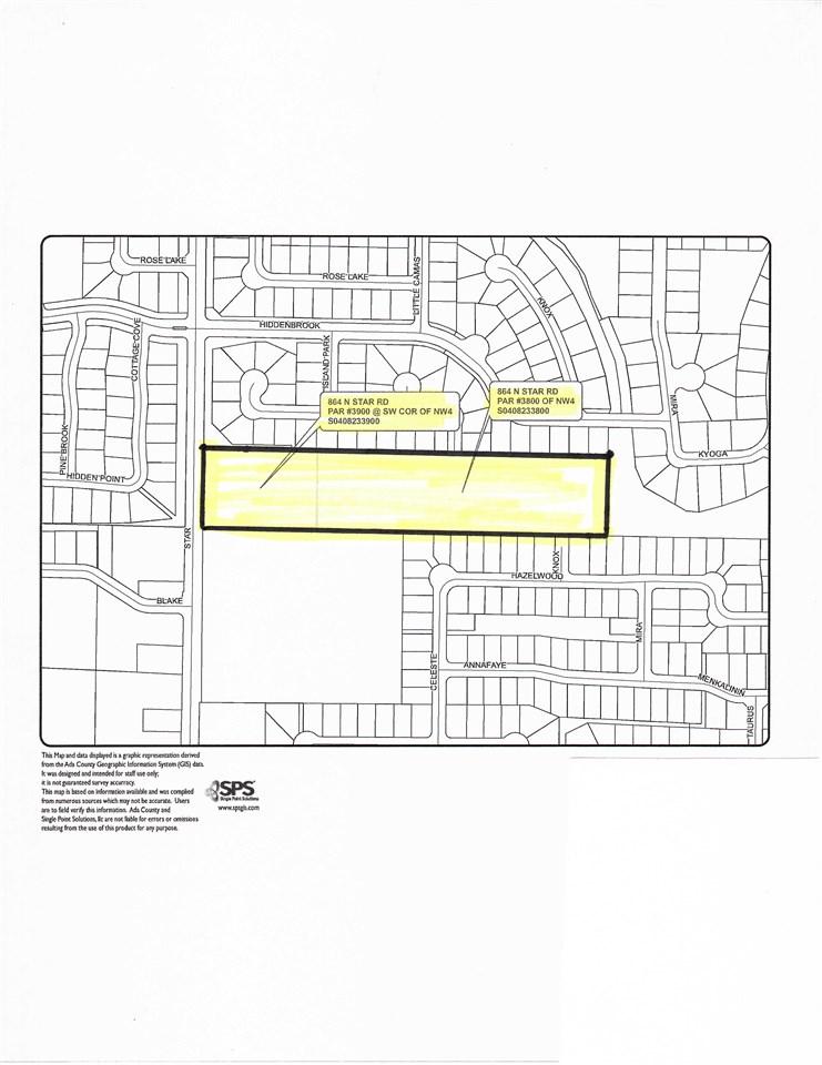 土地 为 销售 在 864 N Star Rd Star, 爱达荷州 83665