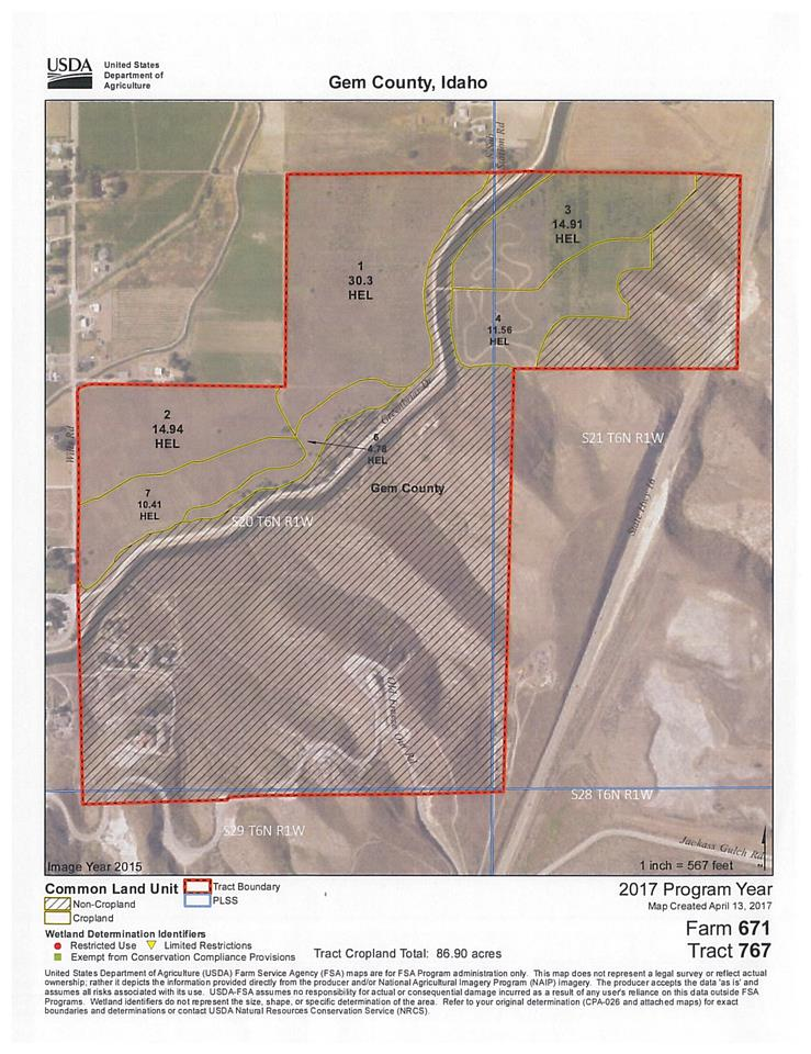 Development 为 销售 在 TBD 215 acre S Subtation TBD 215 acre S Subtation Emmett, 爱达荷州 83617