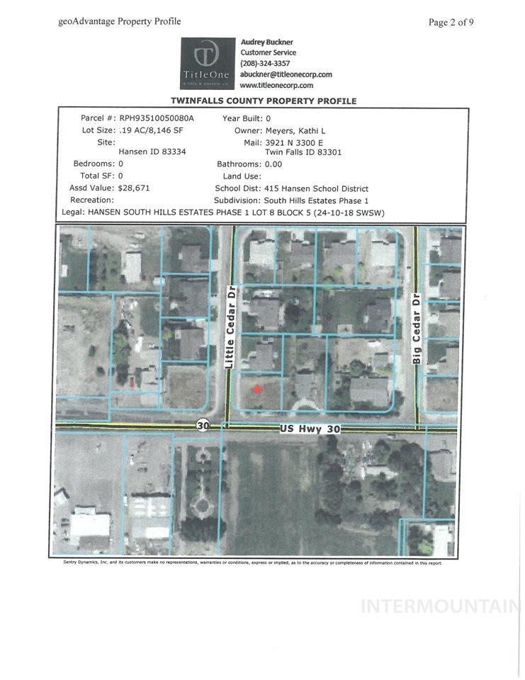 Land for Sale at TBD TBD TBD TBD Hansen, Idaho 83334