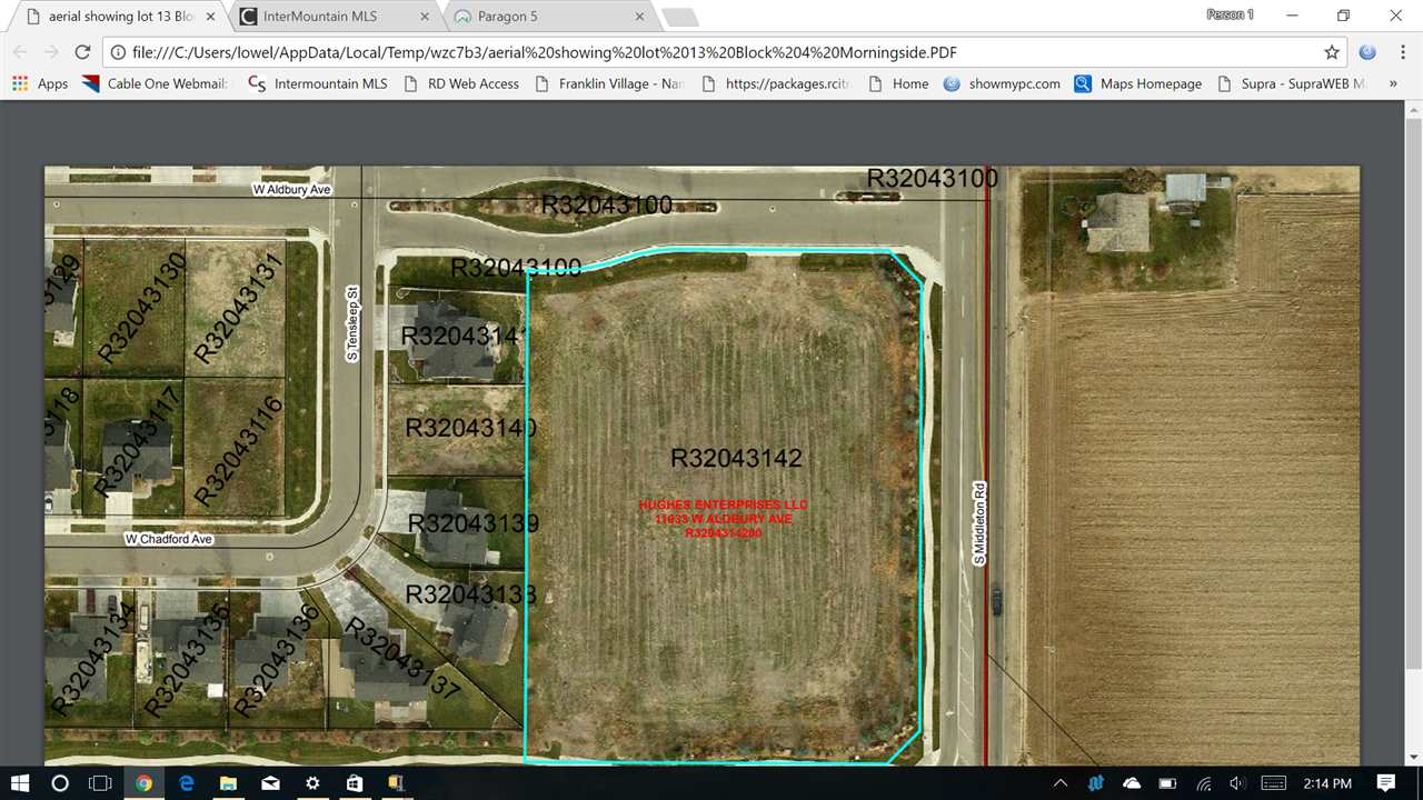 11033 W Aldbury Ave,Nampa,Idaho 83651,Land,11033 W Aldbury Ave,98668902