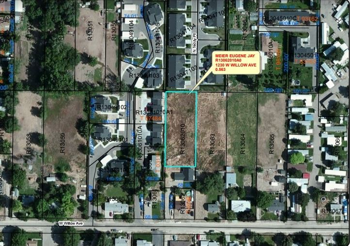1230 W Willow ave,Nampa,Idaho 83651,Land,1230 W Willow ave,98672549