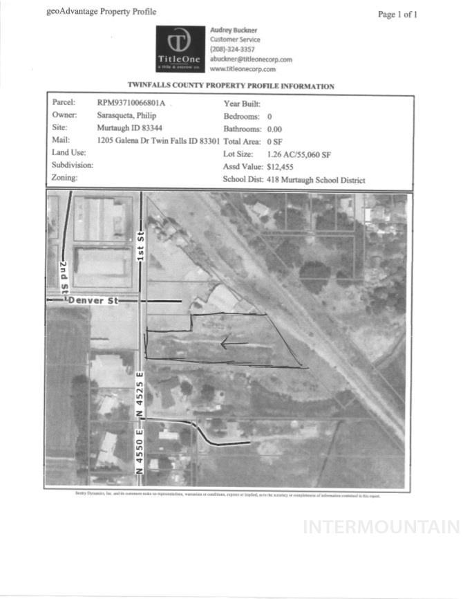 土地 为 销售 在 TBD TBD TBD TBD Murtaugh, 爱达荷州 83344
