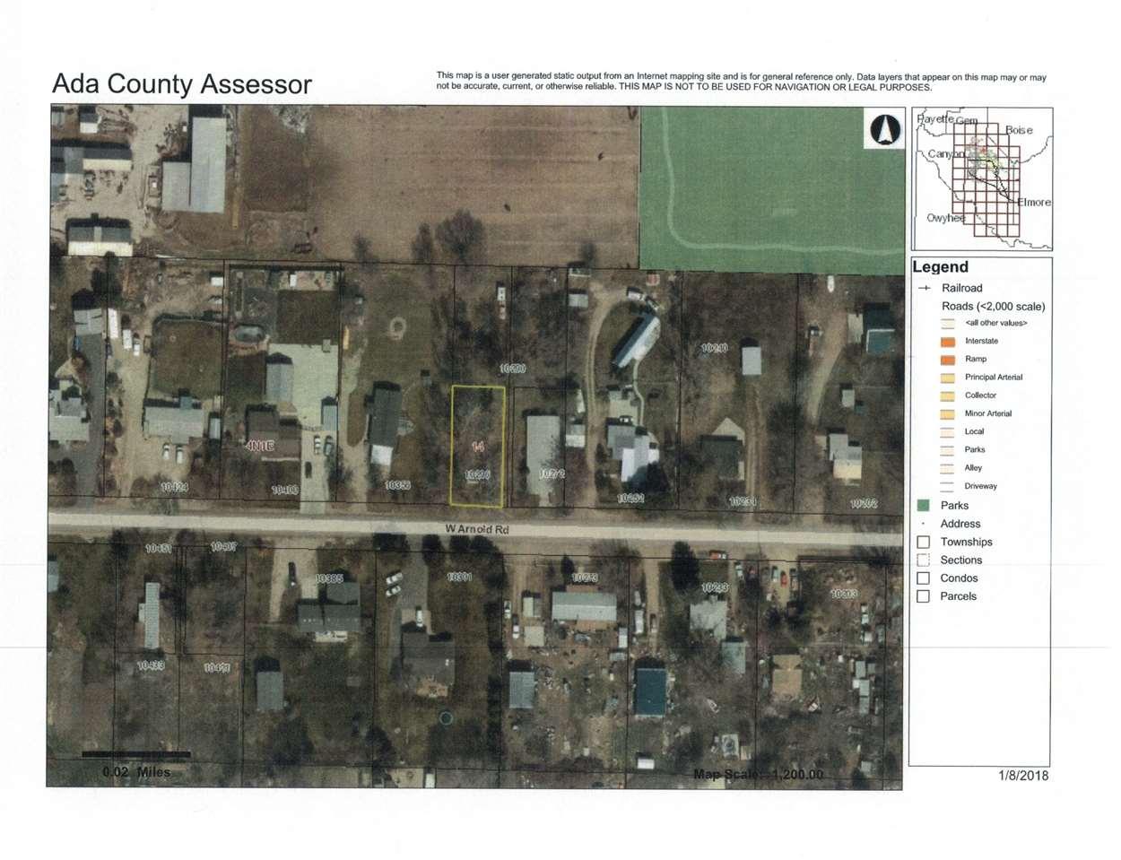 10296 W. Arnold Rd,Boise,Idaho 83714,Land,10296 W. Arnold Rd,98679346