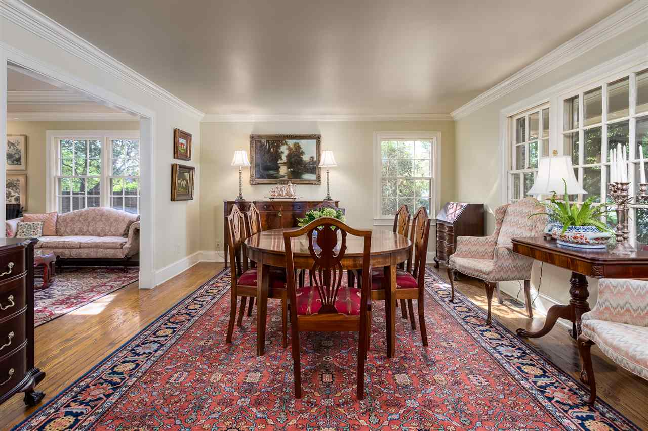 Gracious size Dining Room was the Living Room but was switched for a larger table. Hardwoods, Crown, Smooth Ceilings.