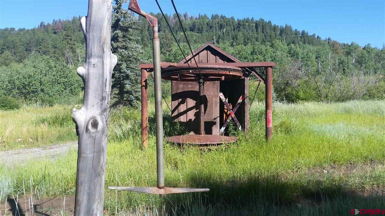 Historic Ski Dallas ski area. 2500 sq. ft. cabin with big views toward Telluride. Many out buildings. The 63.8 acres borders Hwy 62 and can be accessed from this Hwy. thru gate and a 4-wheel drive road goes to the cabin on top but the main access is on W. Piney Way in the Hastings Mesa Estates subdivision off Last Dollar Road. The acres are wooded with excellent hunting for deer, elk bear and turkey. The out buildings provide addition living quarters and storage for vehicles and equipment. Currently electric power for the cabin is solar and generator but SMPA power is available near both entrances. One of the best uses for this property would be to develop a private ski run for an individual or group or a possible commercial zip line business. Most of the visitors to Telluride pass this property on HWY 62.