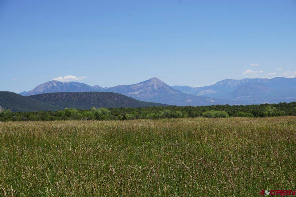 """This parcel has it all: breathtaking mountain views, a 15-acre irrigated meadow and pinyon-juniper forest. The attractive fast-flowing 'creek' is actually a ditch. You're an easy 15-minute drive from Hotchkiss but the wide-open landscape lets you feel like you're way out in the country.  <a href=""""http://www.listingsmagic.com/147346"""" target=""""_blank""""><b>Click here for virtual tour</b></a>"""