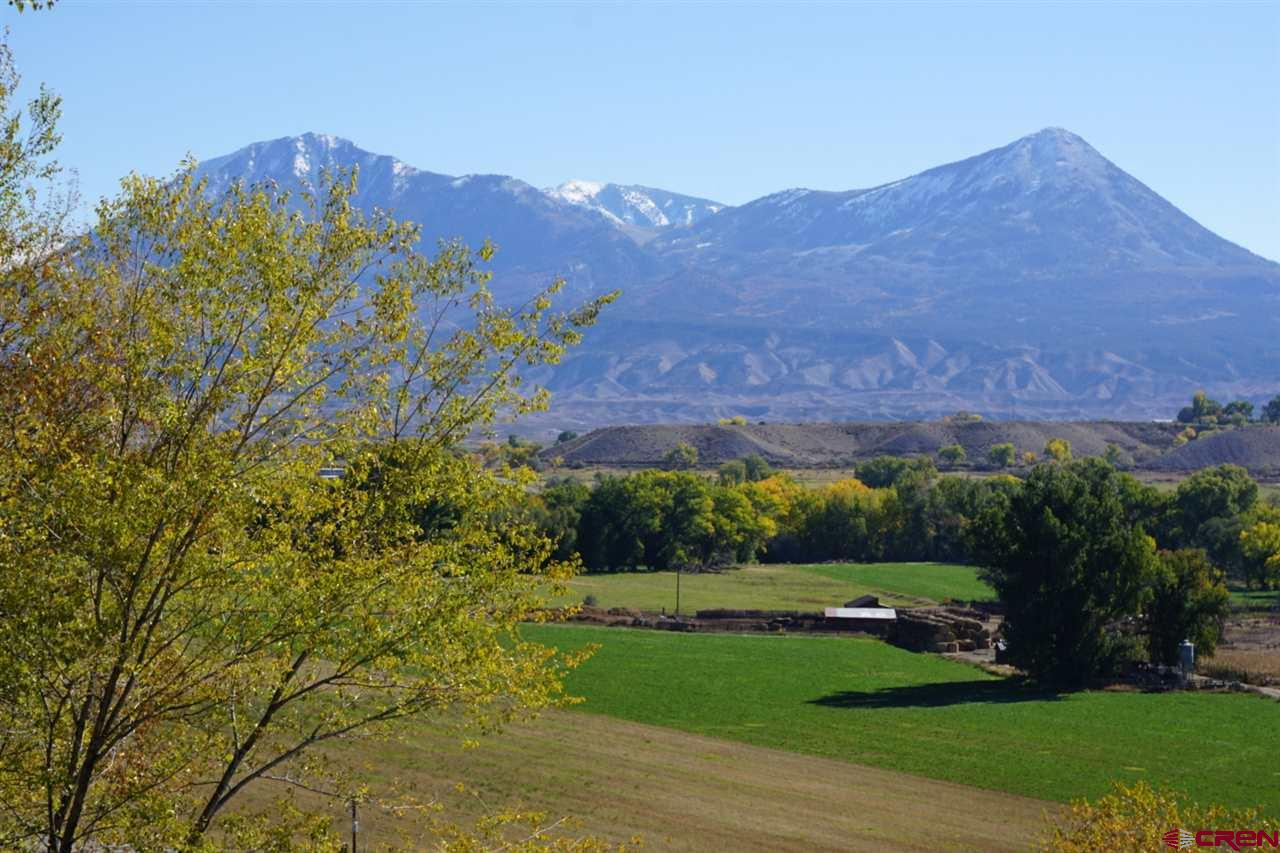 Beautiful well-irrigated acreage on Hanson Mesa with gorgeous mountain views! Within easy walking distance of the town of Hotchkiss, the property has 2 well water taps allowing for 2 homes. It also has 50% of 2.75 shares of the North Farmers Ditch and North Fork Farmers Extension Ditch to be time-shared with Lot 2, plus a spring decree. Underground irrigation water is piped to the property. Seller pays for a county-approved pre-designed well filtration/purification system. Minimal covenants are in place to protect the neighborhood's rural character. *2017 tax of $244.60 is for the original 21-acre parcel. The subdivided parcels do not yet have separate tax ID #s, so the tax amounts are unknown at present.
