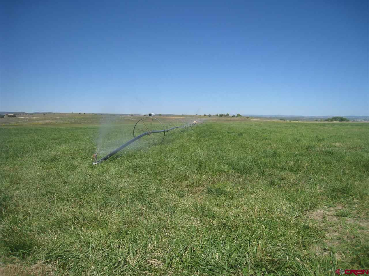 This great 35 acre tract is located in a great location south of Cortez with great views of all of the surrounding mountains. The property comes with 14 shares of water and 27 acres is currently irrigated with a sideroll sprinkler system. The lower portion is set up for hay production/grazing and the top portion is the perfect location for a home with incredible views. The water tap is already installed with 3 freeze free water faucets scattered along the property. There is already a large quonset hut located on the upper portion of the property that currently acts as storage for hay. The property is completely fenced. Very private and secluded yet close to city amenities in Cortez.