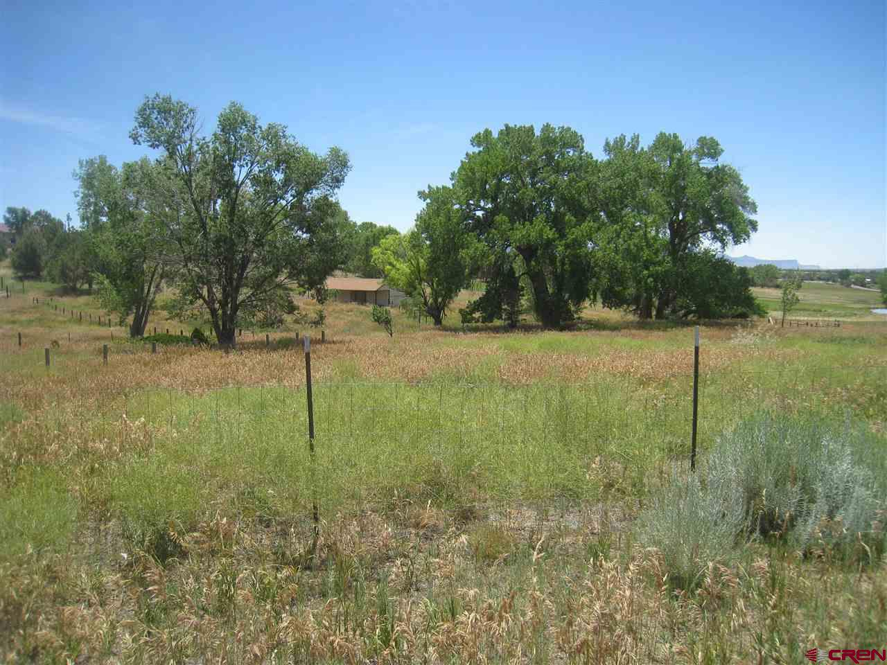 Rare opportunity in a very desired location north of Cortez.  This 4+ acre lot has it all, mature cottonwood trees, pressurized irrigation water, shared pond, partial fencing, barn (900 Sq. Ft) paved county road, all utilities installed including the water tap, septic system, and electric.  VIEWS of the mountains & mesas!  Build you dream home on this beautiful parcel in heaven. The irrigation water is held in the Green Acres Water Users Association.  No manufactured homes.