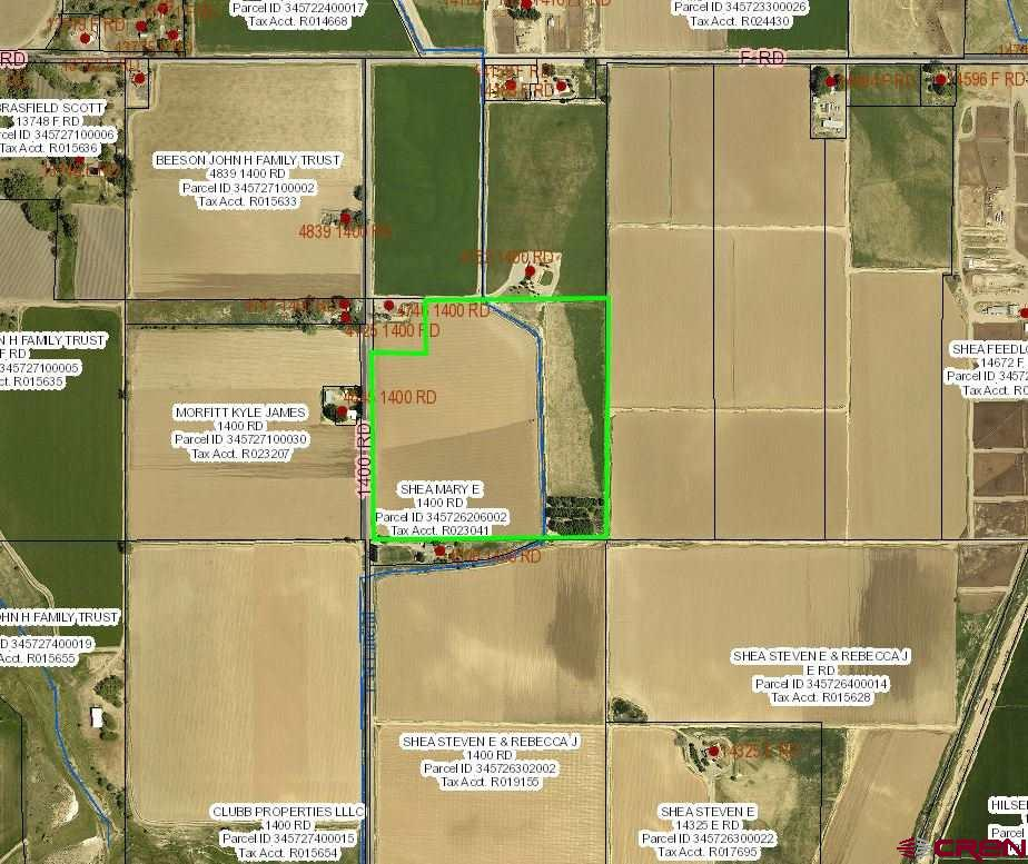 Rare small acreage farm ground located on California Mesa!  36.956 acres well irrigated excellent ag land.  37.8 shares of UVWUA irrigation water.  Concrete & open ditch system.  In the past several different crops have been grown on this parcel - hemp, hay, corn and beans.