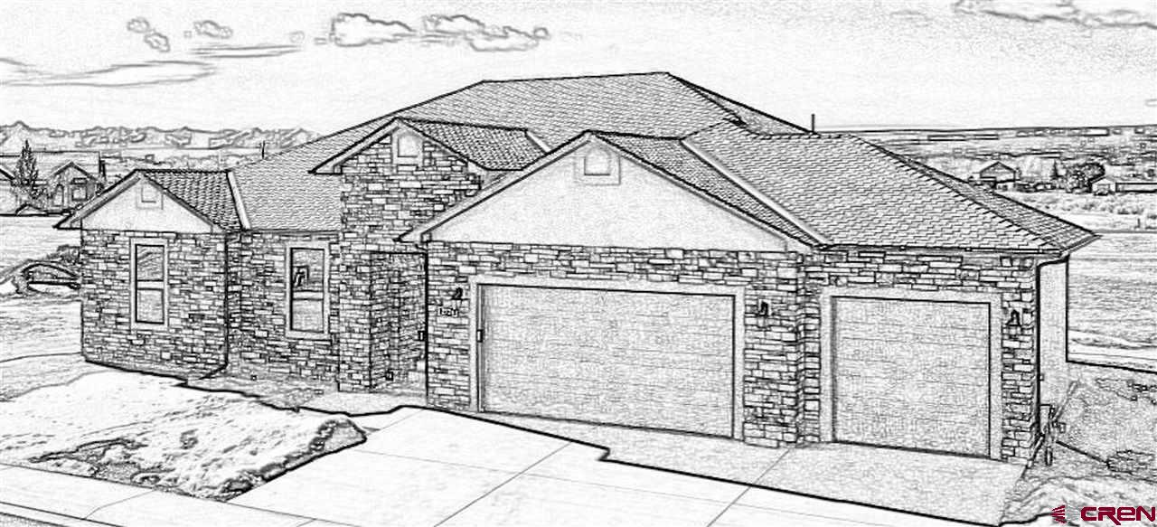 """Proposed Home if of the """"Vista"""" Floorpan at """"The Bridges"""" by L & S Inc.  This is a potential floorpan to be built on lot 1907,  the pictures and representations are of a Home that has been completed in this subdivision.  The builder would use this existing floorpan and features list,  or you could work with the builder on modifications. L & S Inc would also consider building your own custom Home for a small management fee with floorpans available.  This is all on a prime lot ( Lot 1907 ) in """"The Bridges"""" premier golf community. The Bridges Golf Course Community is a spectacular place to live with a classic Nicklaus Design golf course, driving range,  full service restaurant and patio located in a 23,000 square foot clubhouse, featuring a workout facility with locker rooms and banquet room, the entire site being situated with the best views of the San Juan Mountain Range in Montrose, Colorado!   This Lot has all the benefits of living in the community, is situated off the course, and backs up to a community owned open space.  This provides added privacy and allows for a clear view corridor of the San Juan mountain range to the south.  Lot can be purchased individually or as a Lot/Home package from L & S Inc.     *The pictures represented are to show potential finishes, design, and quality."""