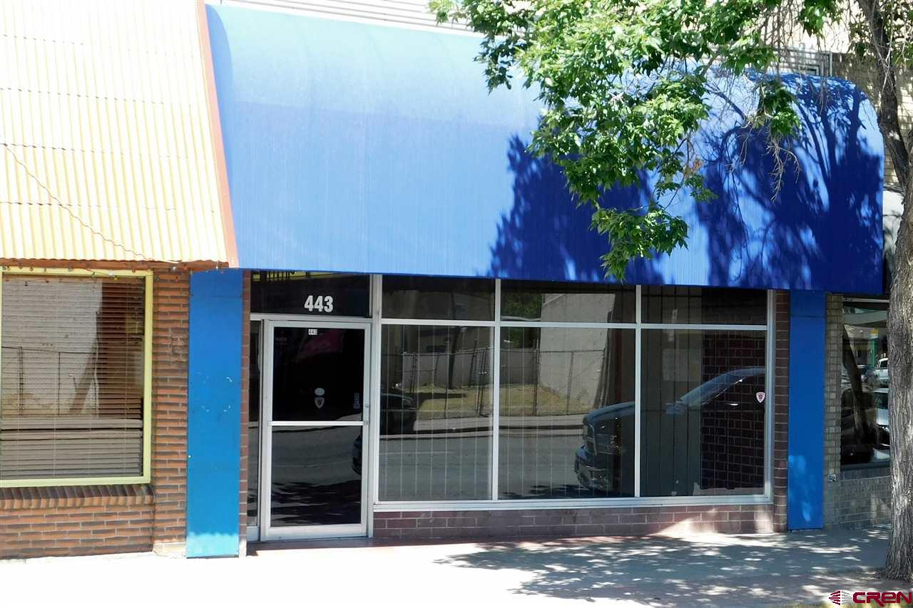 Great Main Street location. Zoned B-1 which allows multiple options for use.  Two half baths and a office/storage area plus a small kitchen unit. Security system already installed.  Two parking places behind building plus 26' storage trailer included. Great possibilities exist for a new business owner!