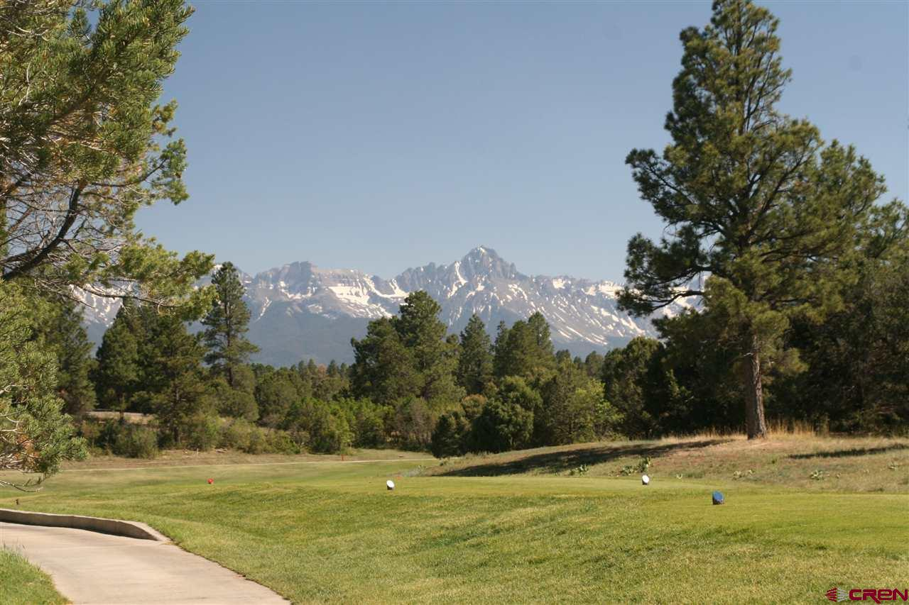 One of the best locations close to the T box for Hole # 18......quick walk or golf cart ride to the club house.  Great south San Juan Mtn views from the second story looking down fairway 18.  Don't overlook the potential of this lot!!!  Quiet location with quick access from the Clubhouse!  Price to include a Founder Golf Membership with a $3000 Transfer fee to be paid by Buyer at Closing.  Paid Dallas Creek Water Tap Fee with a quarterly stand by fee of $105 until you build.  Paid Sewer Tap Fee, still owe connection fee.  See info in Addendum.