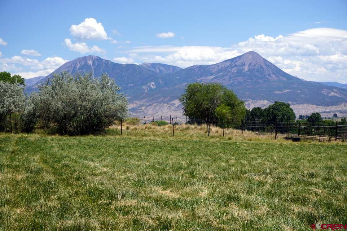 Highly desirable 15 acre bare parcel that checks off all your desires. This is a diverse parcel with a gentle south facing slope with a mix of pasture/ag land and wild tree filled nature with Golden eagles, wild cats, deer, etc... Several acres are currently planted in hemp. This property has very high priority spring fed water rights, excellent mesa top views to the south and east off of Barrow Mesa, and high farm-ability with productive soil.  5 minutes from downtown Hotchkiss. Utilities to property line including Town of Hotchkiss water. Water right 1/3 acre foot 1896 decree + 1.85 cfs! This land is water rich.