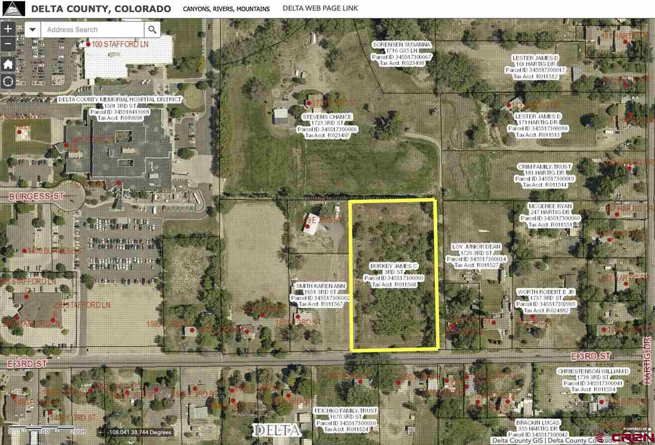 Fantastic small acreage property on Garnet Mesa! This 2.71 acres is zoned Medical/Residential and is ideally located just east of Delta County Memorial Hospital. Paved access off of 3rd Street and utilities nearby. Come and see all of the possibilities this lot has!
