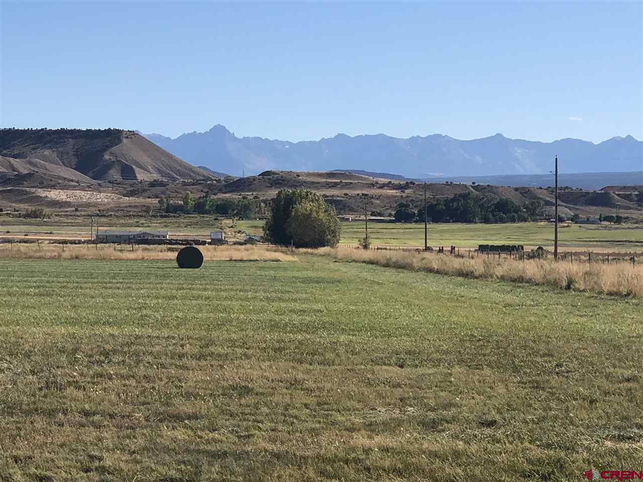 Quiet, close to town and great views. This property would be a nice place to build your new home, have your horses and any other livestock. Joins the BLM, which will open up a lot more area for you to access. 66+/- irrigated acres will give you plenty of hay and pasture for your animals. Water tap installed, minutes from town and great views of the San Juan Mountains. Come take a look!