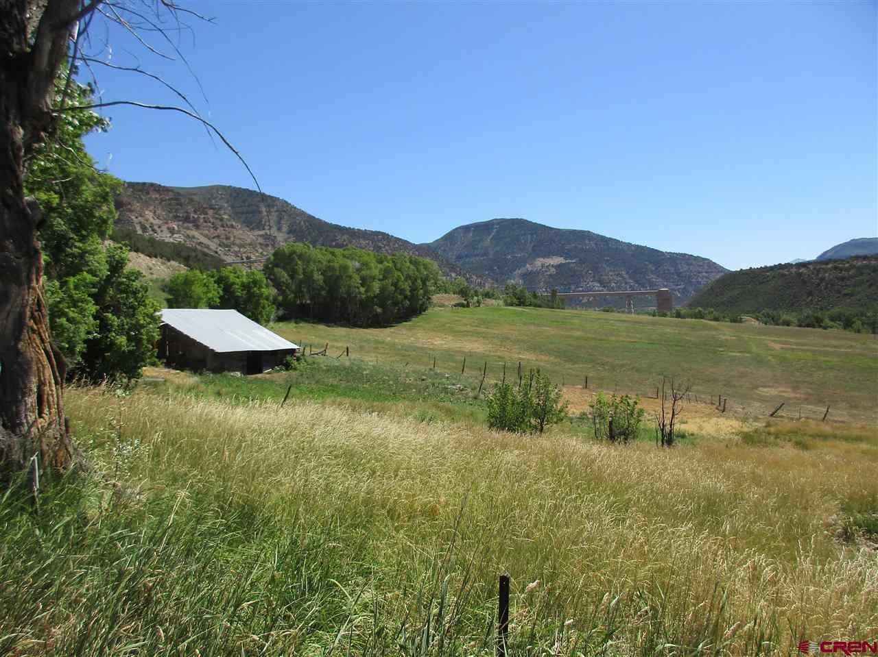 "51 acres with 300 shares of Fire Mountain irrigation water near Bowie Resources (coal mine).  Approximately 20 irrigated acres of farm ground. The Fire Mountain canal is a 34.7 mile canal with a portion of it running through this parcel of property with two head gates.  One is by the house, the other is by the road. This parcel is located on both sides of the road--farm ground on one side and the other side, approximately  26 acres (MOL) is primarily cedar trees.   Excellent opportunity to harvest 8"" and 10""  cedar poles for fencing.  The elk have used this as one of their migration routes for many years.  Includes an 892 s/f home built in 1917 that is currently uninhabitable and is being sold in 'as is, where is condition with no warranties expressed or implied'.Property also includes outbuildings.  Are you interested in preserving our land?  This parcel may be your perfect candidate for a conservation easement."
