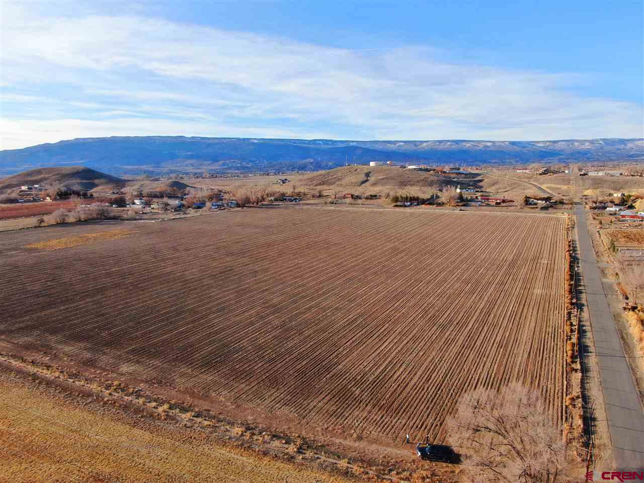 FARM LAND! This 36.5-acre property in Delta County is situated at 5,180 feet in elevation with good water rights, a slight south-facing aspect for excellent crop production, and every bit of the property is usable farmland. This parcel has been farmed for over a century, growing corn, pinto beans, alfalfa, onions, and other high-value crops. It is served by Orchard City Irrigation District water shares and gated pipe. There is a gentle slope from north to south, so the property drains well and farms well. Views are excellent in practically all directions. The property is surrounded by other farm acreages and small-acreage mini-farms and would make an excellent development property for mini-farms and homesites. Utilities are in place. A 3-phase power line bounds the property on the east. Domestic water lines are in place, with a domestic water company tank located on a bluff just to the north of the property. An internet tower is located in close proximity, and natural gas is also available.