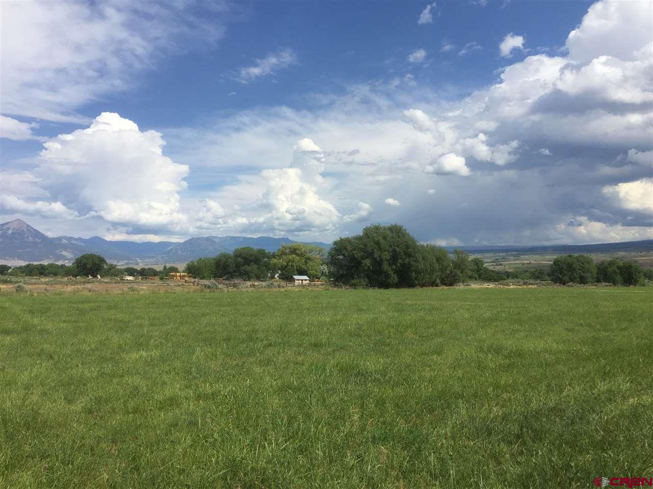 Are you looking for that special farm/ranch with great irrigation? 72.5+/- Acres on the fertile soils of Rogers Mesa near Hotchkiss, Colorado. This property has been a cattle ranch with hay production and pasture for summer, and fall into winter. There are approximately 46+/- acres of hay ground and 26+/- pasture. The location is ideal… in the country but near Hotchkiss about 4 miles away on Rogers Mesa. Also included is one Rogers Mesa Domestic Water Tap and several great building sites of J Road. Utilities including natural gas is on J Road. Really good irrigation water from Fire Mountain Canal & Reservoir. 1830 Shares. (This acreage is in final stages of being divided and will require final approval from the county.) Call agents to see the property... a drive by doesn't do it justice.