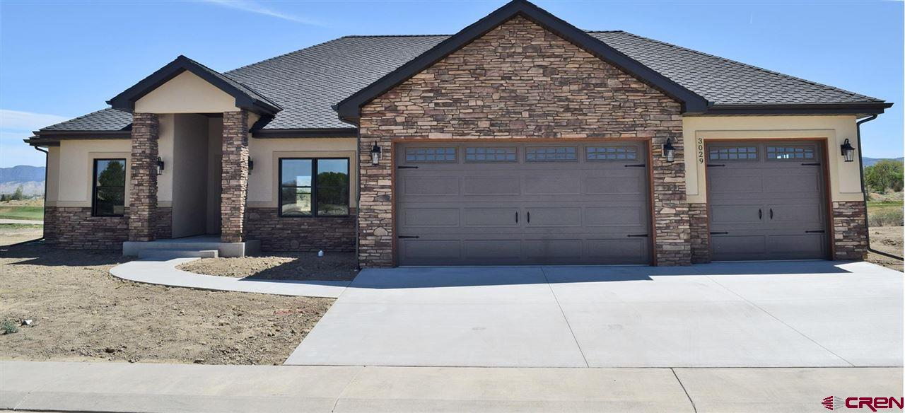 New Construction on Fairway w/ Striking Mountain Views & 3-Car Garage! Estimated Completion October 10th. Come home to premium finishes, an open and split floor plan, and an executive office with lightning-fast fiber internet available. The kitchen is open to the living room with plenty of room for entertaining. Windows and patio provide ample views to the southeast. Make this property your permanent retreat with spectacular fairway views and mountain views to the south; you'll be enjoying the back patio with friends and family in golf course community comfort and Montrose mountain style. Specifications sheet upon request.