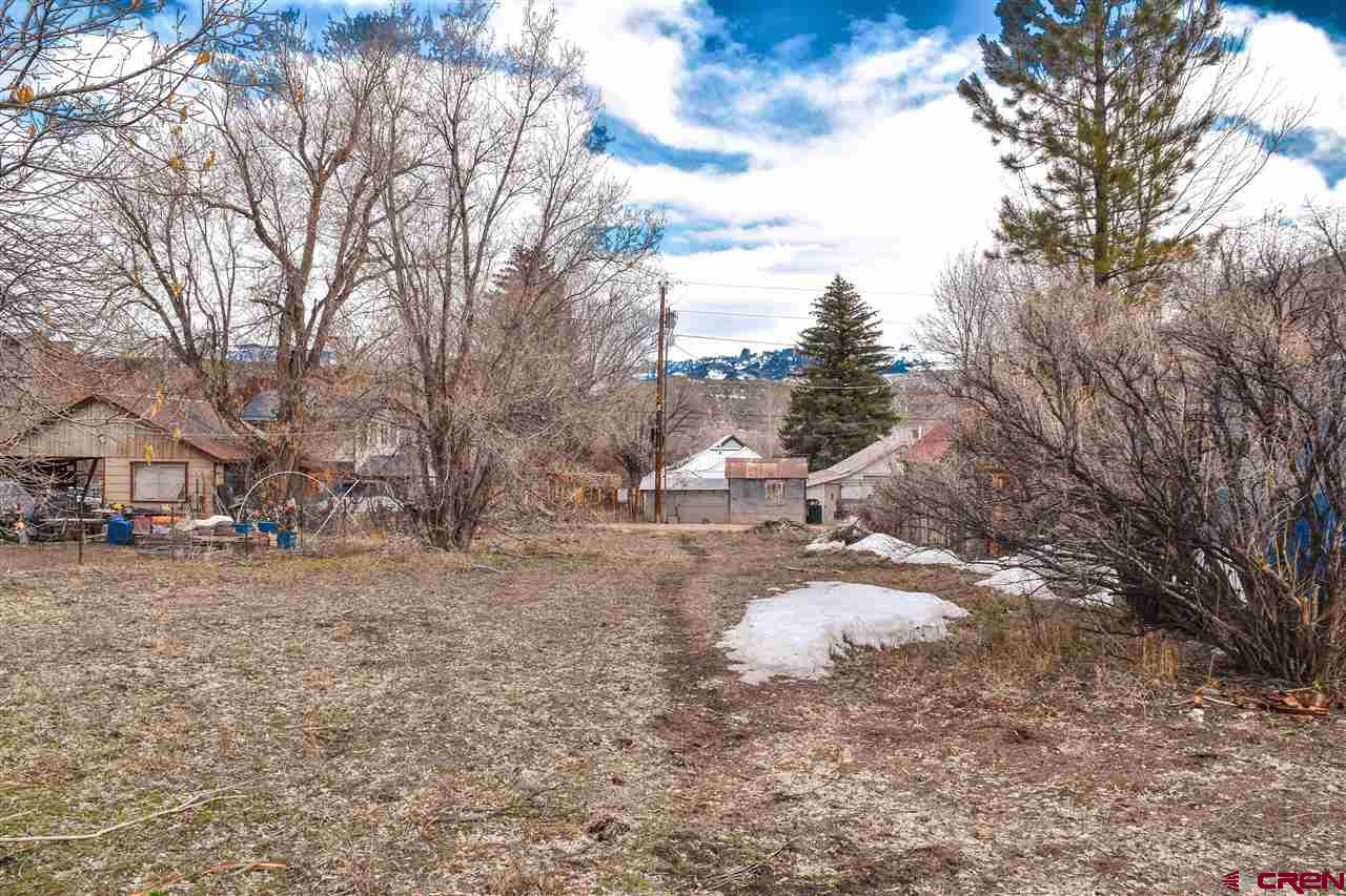 Rare opportunity in the core of the town of Ridgway. Located on the south side of Ridgway with peeking Cimarron Views. Alley access on back side of lot. Walking distance to all amenities in Ridgway. Zoned Historic Residential.  Contact us for additional information today!