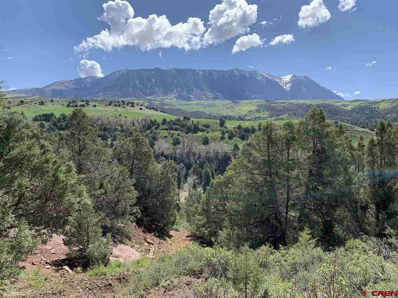 This property has the potential to become your mountain retreat. Located between Paonia and Carbondale, it is situated predominantly on a slope, with a few benches that could be used for building sites. Astounding views of Ragged Mountain near the top of the property.  This land is between 7000' to 7400' elevation, and is in Big Game Unit #521 for excellent hunting nearby.  Well would need to be drilled by new buyer.