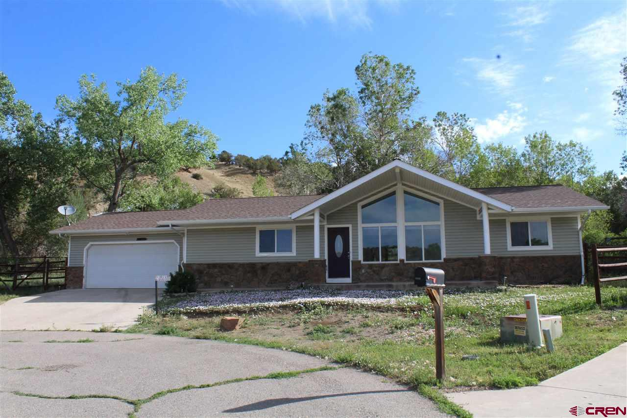 Paonia home located at the end of cul-de-sac awaits you! Split floor-plan with two car attached garage. Amazing views of Lamborn and surrounding area right from your new living room! Private back yard with irrigation! You will not want to miss out on this one! Call for a showing today!