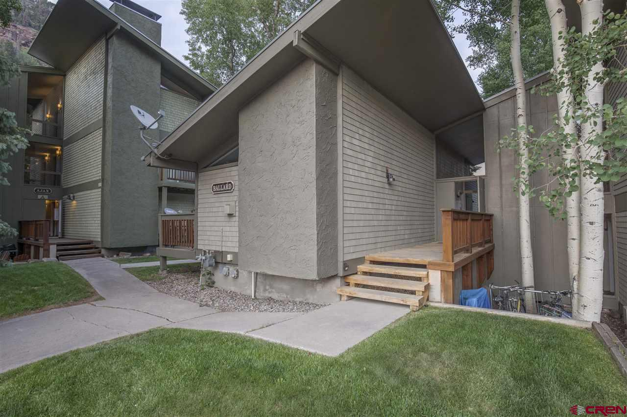 Incredibly unique opportunity in the Town of Telluride. Tomboy Lodge Units 106/107/155. #106/#107 are currently configured as 1 large and 1 small independent studios, but can be easily converted to a large 1 bed 2 bath residence by opening the doors between them. Both 106 and 107 have been recently remodeled with stainless appliances, high end furnishings, gas heat/fireplaces and are being offered fully turn key. Each studio comes with its own parking pass. Both studios have very successful short term rental histories and are currently short term rented and require appointments to show. Unit 155 is located beneath 106/107 and is currently being used as an office /lounge/ storage and support for the units above. Unit 155 cannot be occupied as a sleeping unit but is an incredible compliment to the entire offering and has a daytime parking pass.It is a fully finished basement with a 3/4 bathroom . The building itself has a new roof/ new exterior paint/ new interior common hallway paint / new common hallway lighting and new exterior building lighting .  Tomboy lodge has a very large park like open space, its own off street parking and community Hot Tub. Owners are allowed a reasonable number of dogs and/or cats .Close proximity to everything Telluride. No shared walls or units above paired with a tranquil part of town ensure future enjoyment with tremendous upside potential.