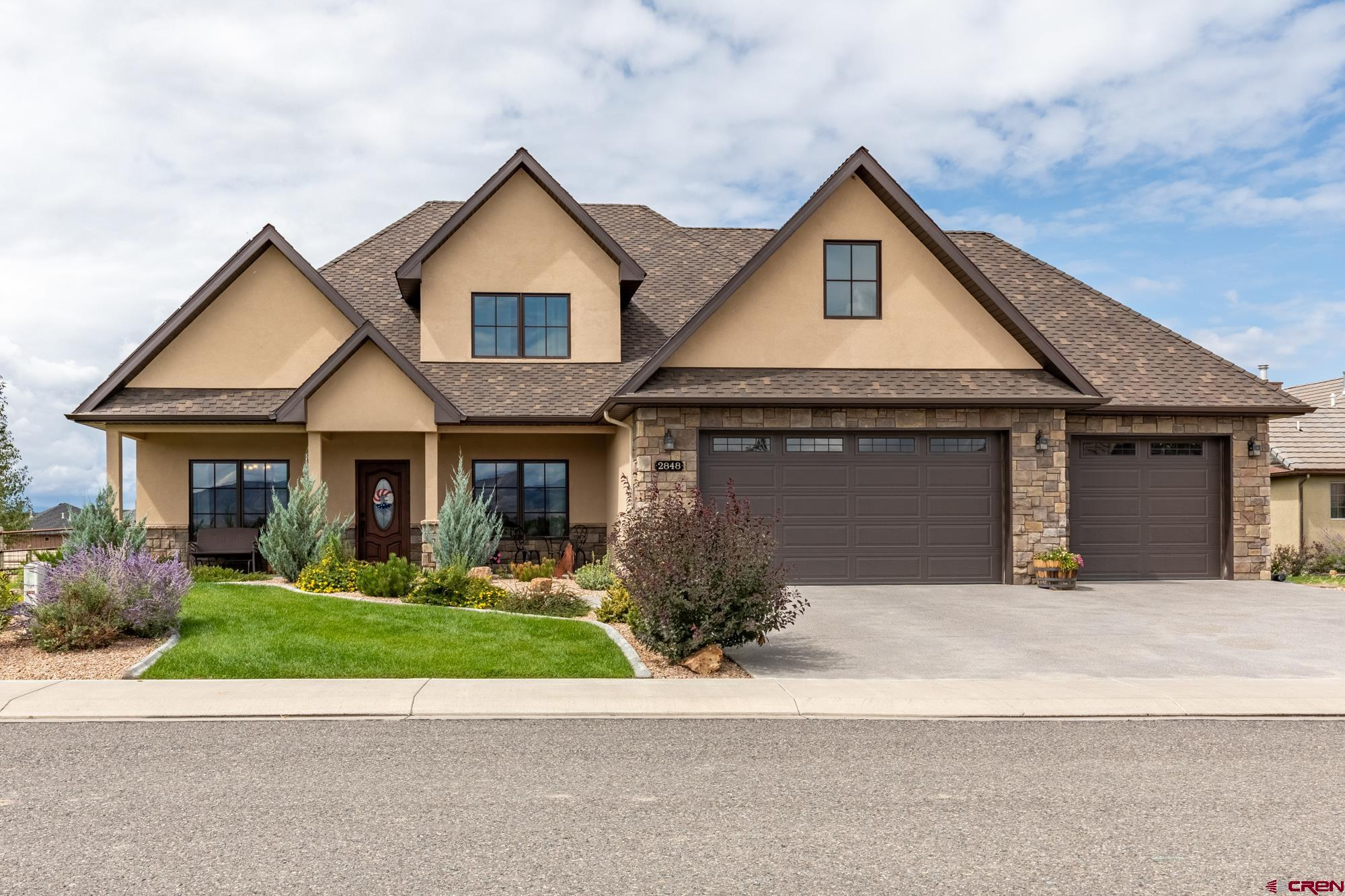 Impeccable Newer Construction Home on an Oversized Lot in the Bridges Golf Community! Make a wise purchase with this well-constructed 2017 build home. Attention to detail can be experienced in every part of the home. Wood-framed casement windows provide the added touch of quality and class you deserve. South-facing roof solar panels provide the home with enough electricity to eliminate cumbersome electric bills! The welcoming main living area adorns cathedral ceilings accented by a stone fireplace and tasteful engineered hardwood flooring, providing a warm and enjoyable atmosphere. Let the kitchen bring happiness to the chef in your family, featuring stainless steel appliances, accented by custom cherry cabinets and plush granite countertops. The office is separate from the bedrooms and comes equipped with lightning-fast fiber internet for all of your work/school-from-home needs. The cozy back patio and sunroom allow a comfortable space for gathering with friends, family, and pets, without the nuisance of wind and bugs. Can't get enough of the outside? The sprawling and fully fenced backyard gives you and your loved ones freedom to roam! And the decadent hot tub with privacy pergola will give your body the rejuvenation it needs after exploring the nearby mountains. Make this Impeccable Newer Construction Home Your New You; Take a Tour Today!