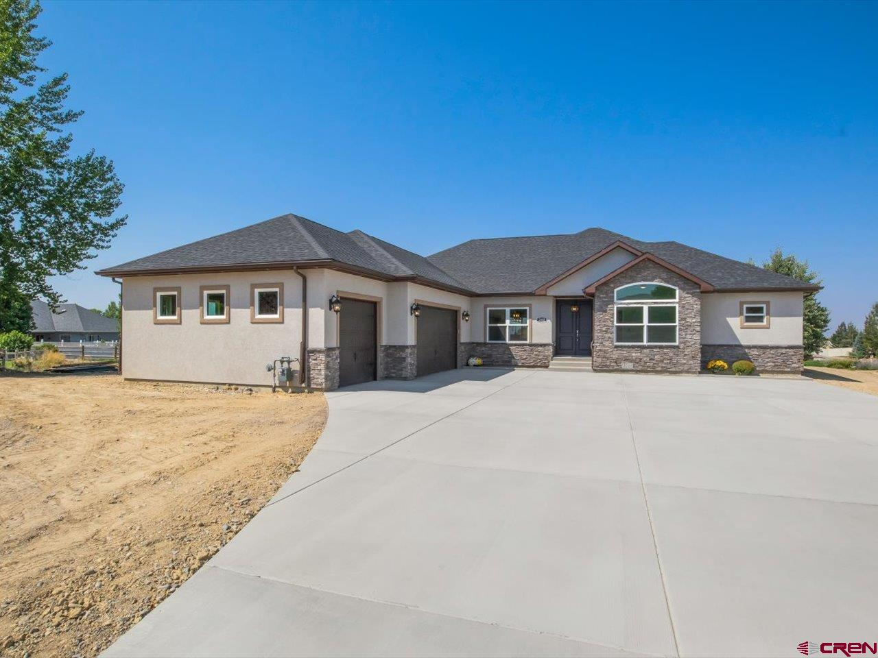 New built home on .5 Acre. End of Cul-De-Sac. Very Private. 3 car attached garage with EGDO, plus remotes and a key pad. 4 Bedrooms, 3 bath, Central Air Conditioning, NGFA heating Frigidaire. Open living area. Kitchen with breakfast bar for 5 chairs. Great M. Bedroom and full bath. Large walk-in closet. Plenty of room for a additional garage or  shop. Nice Covered Patio. Must See. Hook up for dryer electric/gas and same for range and oven. Current Range/Oven is electric. Taxes for 2021 are Land Only. To be reassessed later this year for land and residence.