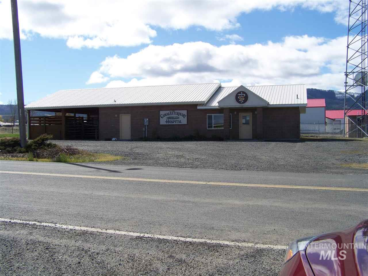 Located in a commercial area of Grangeville w/ easy access along the truck route this property has tremendous potential. It has 3306 sq ft of space for your future business & sits on a lot size of nearly 1 acre. This building was the local Vet Hospital which the area will dearly miss. But with lots of parking area available & a well-built office building, the potential options for a new business is endless.The owner would prefer an owner carry. Bring your business idea & let us help you build your future.