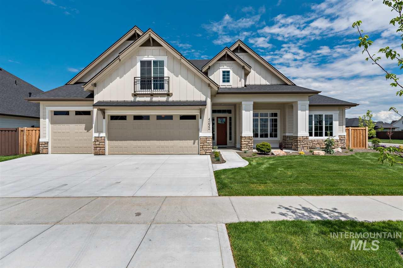 The EnergyStar Certified Trailcreek by Brighton Homes. This homes includes a great room with coffered ceiling, butlers pantry, formal dining, den, and bonus room. Master suite includes a sitting room and spa-like bath with an abundance of tile, granite, and closet space. Photo Similar Non-Standard Options May Be Shown. **Interior specs shown are subject to change prior to completion date.**