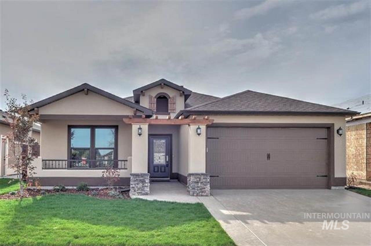 PRE-SOLD-Custom Chelsea by renowned Ted Mason Signature Homes. Indulge yourself w/rich interior finishes & full stucco-stone exterior. Front courtyard, covered patio + fully landscaped. Extremely energy efficient with HERS score. Over sized garage! Active Lifestyle? You'll love the huge community clubhouse & fitness center-among the finest in the Treasure Valley with pool & grand space for entertaining. Full exterior landscaping maintenance included in HOA-$350/qt.