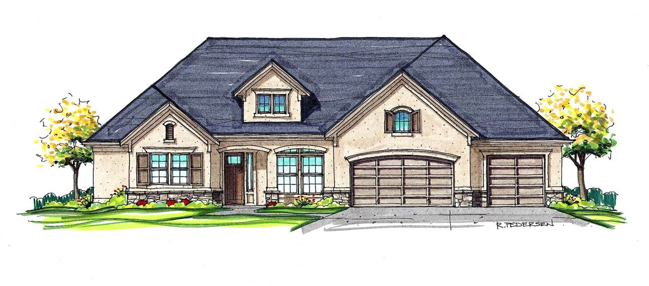 "*PHOTOS SIMILAR* The ""London Evelyn""Stunning single level design with all the bells & whistles you've come to expect from James Clyde vaulted great room with exposed rustic beams. Thermador appliances combined with beautiful trim work and custom cabinetry creates a beautiful gathering space for entertaining. Expansive garage with epoxy flooring. Full landscaping and fencing with large patio acts as a stunning extension of your indoor living. Completion March 15,2019"