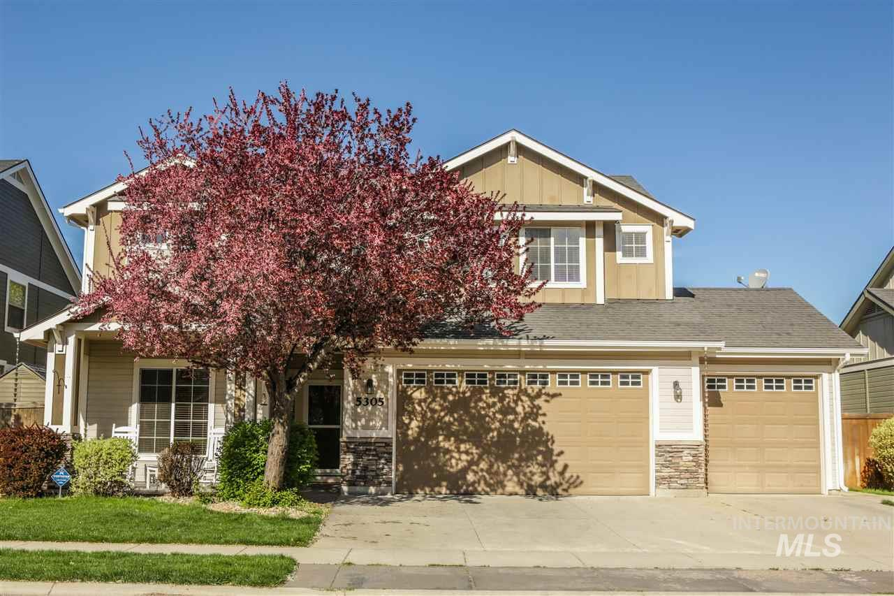 Beautiful home in desired sub features 4 bdrms on the second floor and a main level 5th bedroom or office, upstairs laundry room. Pre-plumbed for central vac.  Incredible back yard, stone & rock patio with gas fire pit, mature landscaping, garden area, no back neighbors. 3.5 car garage with attic storage. Newer Furnace. Carpet with upgraded pad is one year old. Hardwood floors just refinished. Paramount Subdivision with Community Center, 3 pools (soon to be 4), fitness facility, ponds, walkways and parks.
