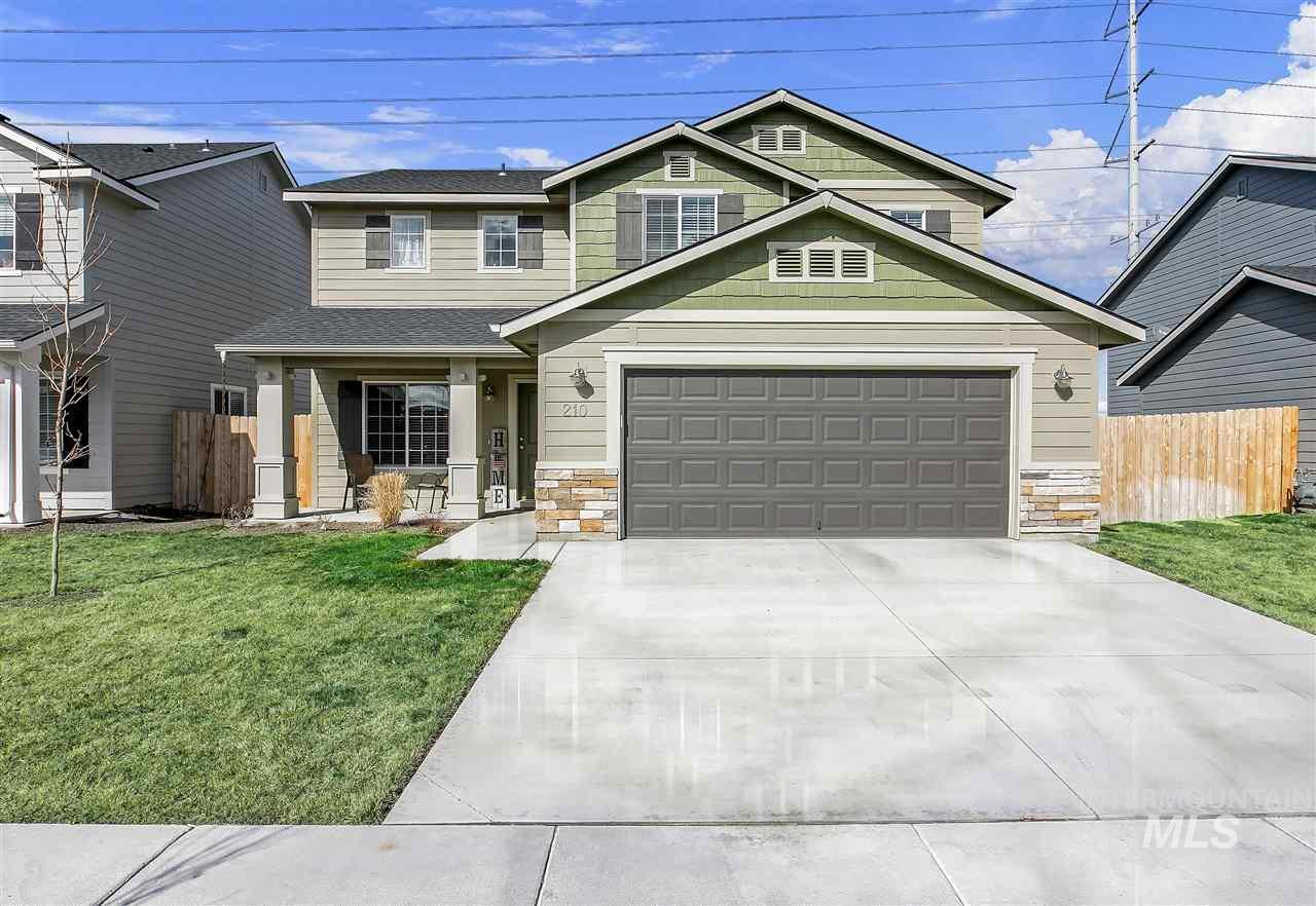 This 1 Owner Home Is In Excellent Condition! Fully Fenced And Has A Great Back Yard With 2 Patios And Mountain Views. No Rear Neighbors! Features A Large Kitchen With An Island and A Large Pantry. Entering This Wonderful Home The Living Room Greets Your Guests. Upstairs The Master Has A Large Walk In Closet And 3 More Large Bedrooms Along With The Laundry Room. Over Sized 2 Car Garage. Great Location Close To Downtown Meridian and Schools. Common Area/Playground Just Across The Street. Move In Ready!!!