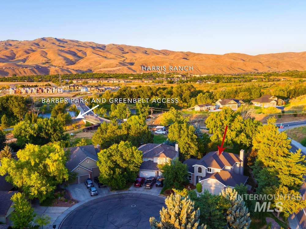 The best value in SE Boise, with the lowest pricing per square foot in desirable Barber Point. Incredible proximity to Barber Park, Greenbelt & nature trails, Boise River for fishing, and moments to East Boise favorites including Harris Ranch and Bown Crossing. With over ~3800sf, the home offers room for everyone with six bedrooms and generous gathering spaces in a tried-and-true floorplan. Bright and inviting interior with new paint, newly refinished wood floors, and new carpet, with beautiful trimwork.
