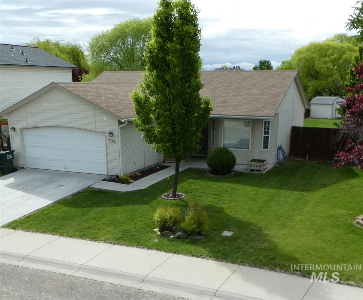 Nice home on spacious fenced lot with firepit and storage shed.  Hardwood and tile flooring throughout. Stainless steel appliances.  Enough space for RV parking, but not currently set up or used for RV.  Seller's willing to vacate quickly to accommodate fast closing.