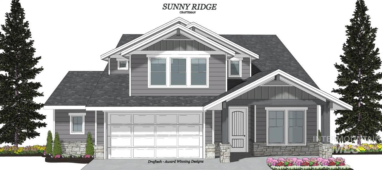 The new Sunny Ridge Plan by Hallmark Homes! This exciting plan features a very large master suite, and a large bonus room upstairs! Gorgeous, open great room area with fireplace. Main floor 4th bedroom would be a great office too. Wonderful upgraded finishes throughout. The garage is incredible with one bay being approximately 45 feet deep! Plus and additional work/storage space of approximately 23' x 8'. Located in one of Meridian's most preferred neighborhoods.