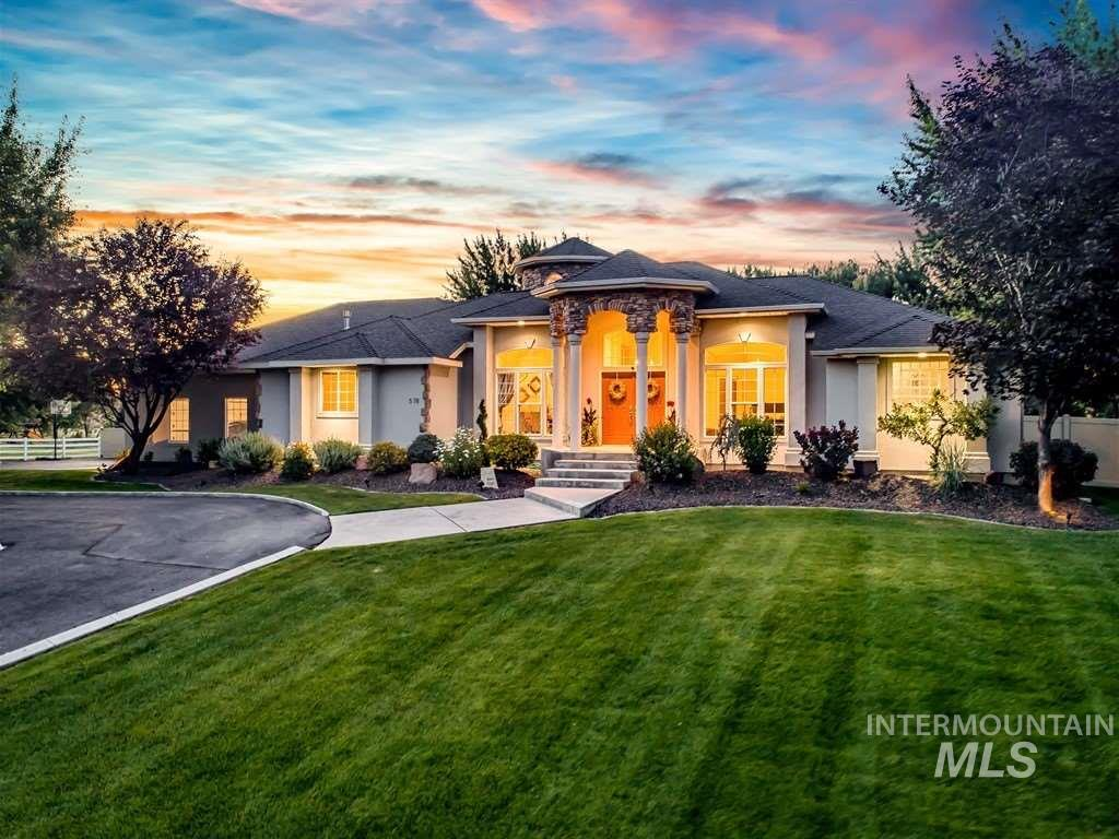 Enjoy the irreplaceable natural lush setting of serenity on 1.32 acres without compromising proximity to the city. Ultra private grounds w/room to roam, cascading waterfall, & flowing tranquil pond w/ a captivating backdrop of the Boise Foothills in this quaint neighborhood. Hobbyists will love the detached 900 SF shop w/500 SF of finished space w/electricity & storage. A semicircular driveway welcomes your guests to double doors that lead to the bright spacious interior.