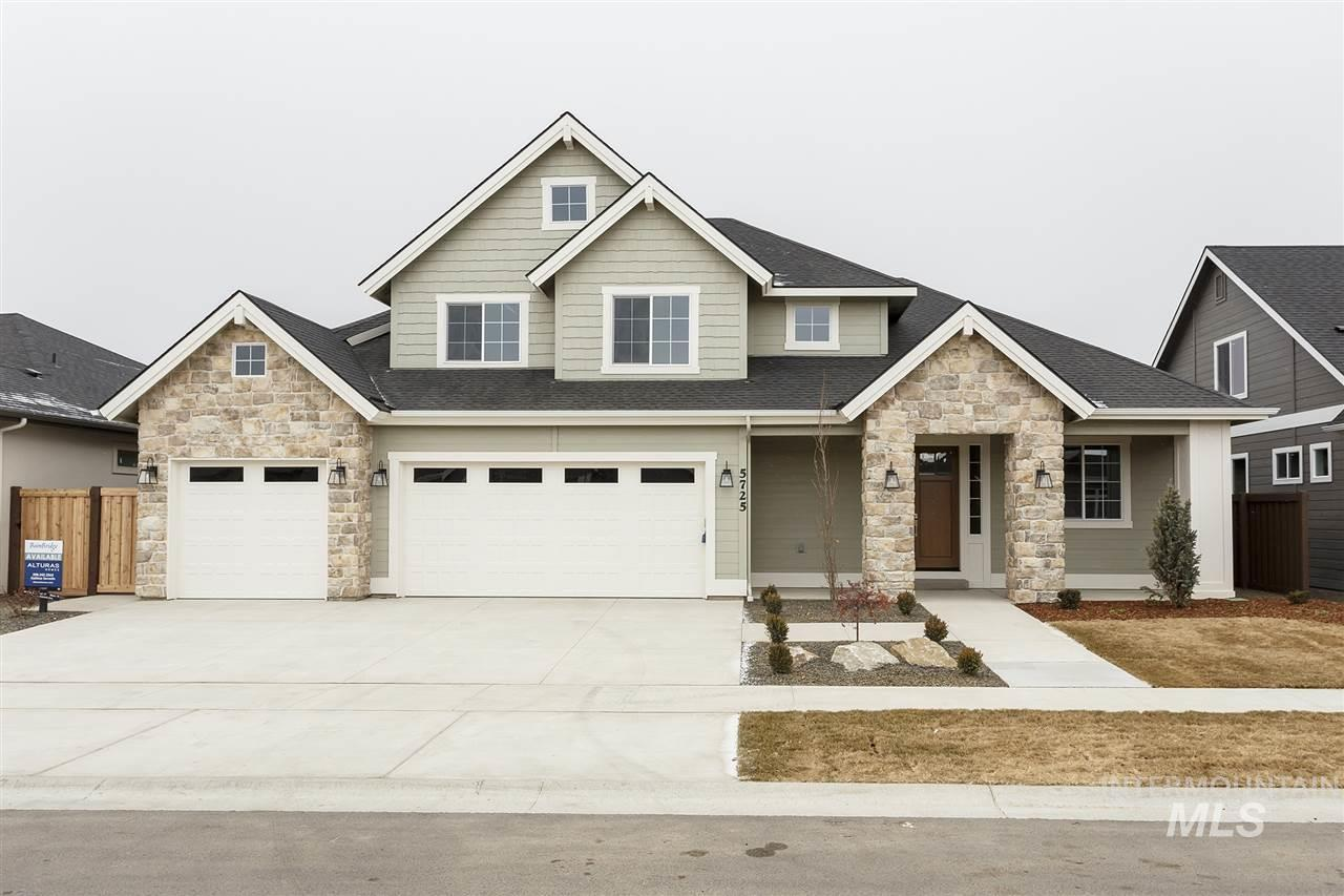 The Alder by Alturas Homes is a two story home featuring 4 bedrooms, a main level master, an office and a bonus room. All 4 bedrooms have walk in closets. Plenty of storage in the over-sized 3 car garage. All Alturas Homes come standard with Bosch appliances and are plumbed for central vac. Photos are Similar.