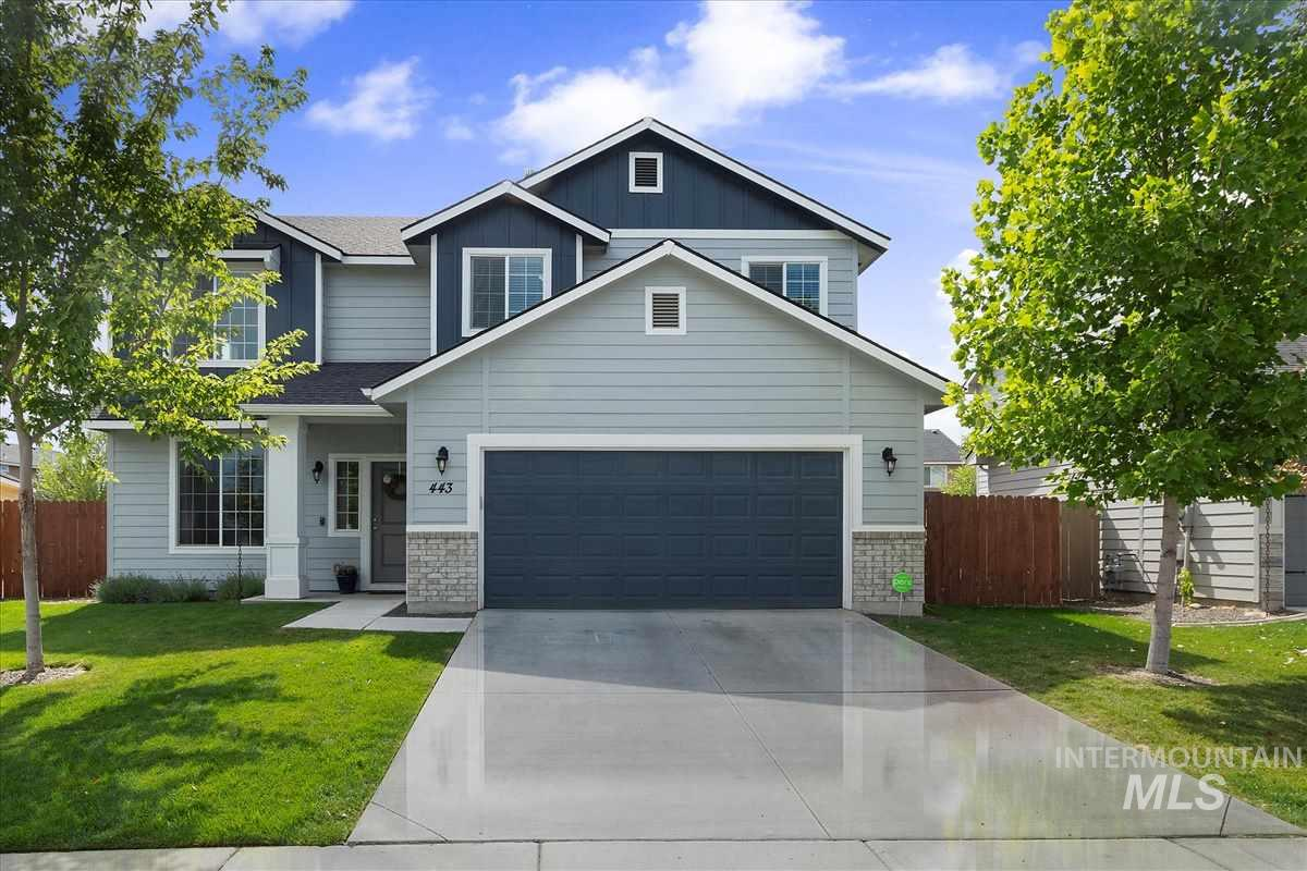 This is the one you have been holding out to find! Impeccably maintained and meticulously clean, attractive finishes, & upgrades throughout. Stainless appliances, slab granite, full tile backsplash, solid wood soft close cabinets throughout, energy efficient 2x6 construction. Main level flex room, upper loft, master (w/separate tub/shower & huge closet) utility room, & 3 nice sized bedrooms. Fully finished outdoor living space w/ covered patio, play set & storage shed that puts Cheryl's she shed to shame.