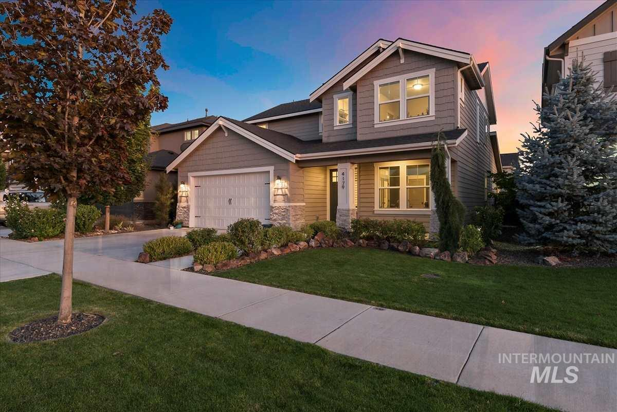 Highly desirable neighborhood & a former Parade of Homes model! Just a stone's throw away to nearby shopping, dining & services while tucked away in a tranquil neighborhood with tree-lined boulevards, mature landscaping, ponds & water features. This BEAUTIFUL home is exquisite inside & out. High end details & fixtures throughout including Bosch kitchen appliances & Transition blinds for added comfort. Custom bleached hardwood floors throughout main living areas. HERS rated- like new. Highly rated schools.