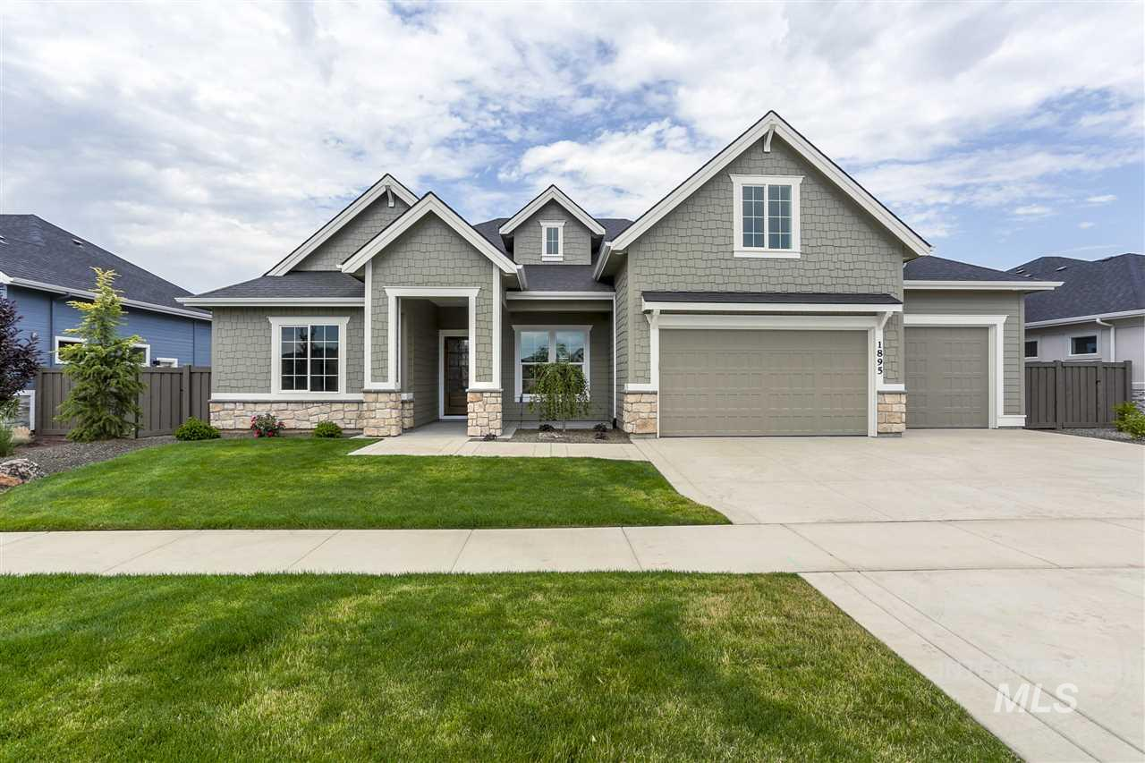 """PHOTOS SIMILAR The """"Andrew Michael"""" by James Clyde Homes. All the bells and whistles you've come to expect from James Clyde: Extensive hardwood, amazing stainless steel Thermador appliances, custom built cabinetry, breathtaking trim work & detail that only a true craftsman can deliver! Check out the over sized (approx 1,168 sq ft) 3+ garage that features a 36' long 3rd bay w/epoxy flooring! Full landscaping front & back! Price includes full fencing! EST COMP DATE: 12-15-2019"""