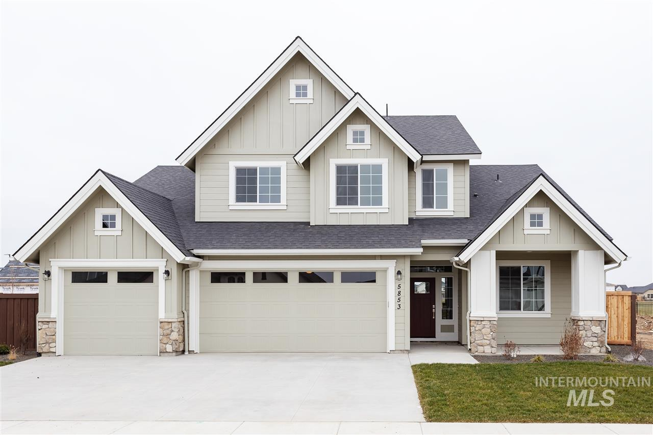 The Latah built by Alturas Homes is a two story home with the master on the main. The great room has a coffered ceiling and large window with a view of the backyard. On the upper level, there are three additional bedrooms and a bonus room with a vaulted ceiling. The master suite has a large walk-in-closet and tiled, spa-like master bath. This home is complete with an office, engineered hardwood floors and a three car garage. Photos Similar.