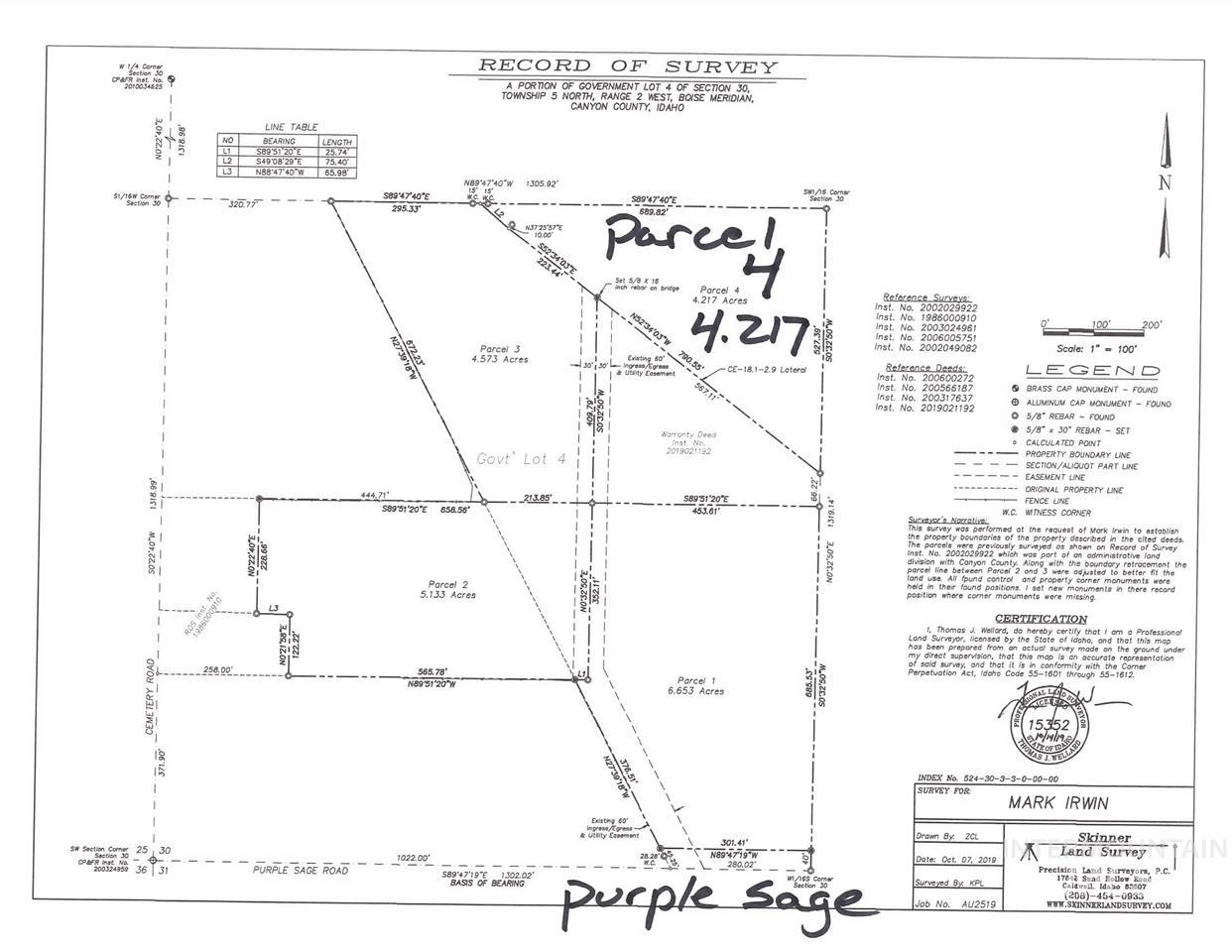 TBD Parcel 4 Purple Sage, Middleton, ID 83644