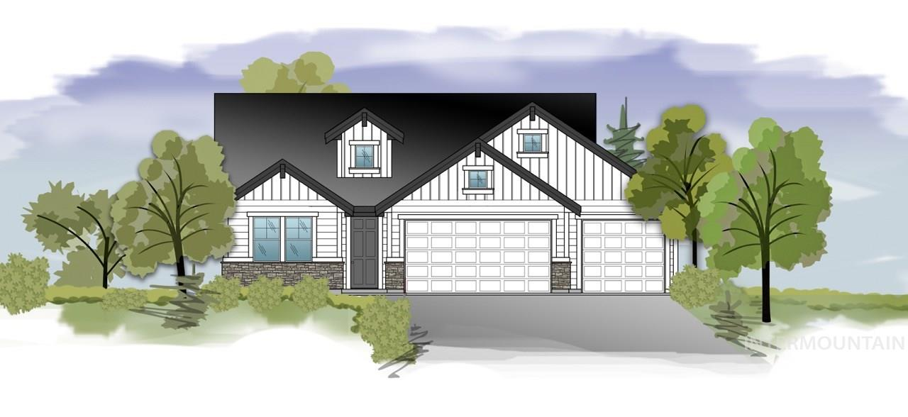 "Under construction. ""The Palouse"" by Serenity Homes. Single level open concept home with a large great room and kitchen and plenty of natural light. The Great room opens to the kitchen with large island, stainless steel appliances, wood floors. 3 car garage and front and back landscaping included. Merino Cove is a cozy new neighborhood located on the border of Meridian and Kuna. Still time to select your finishes.*Photo Similar"