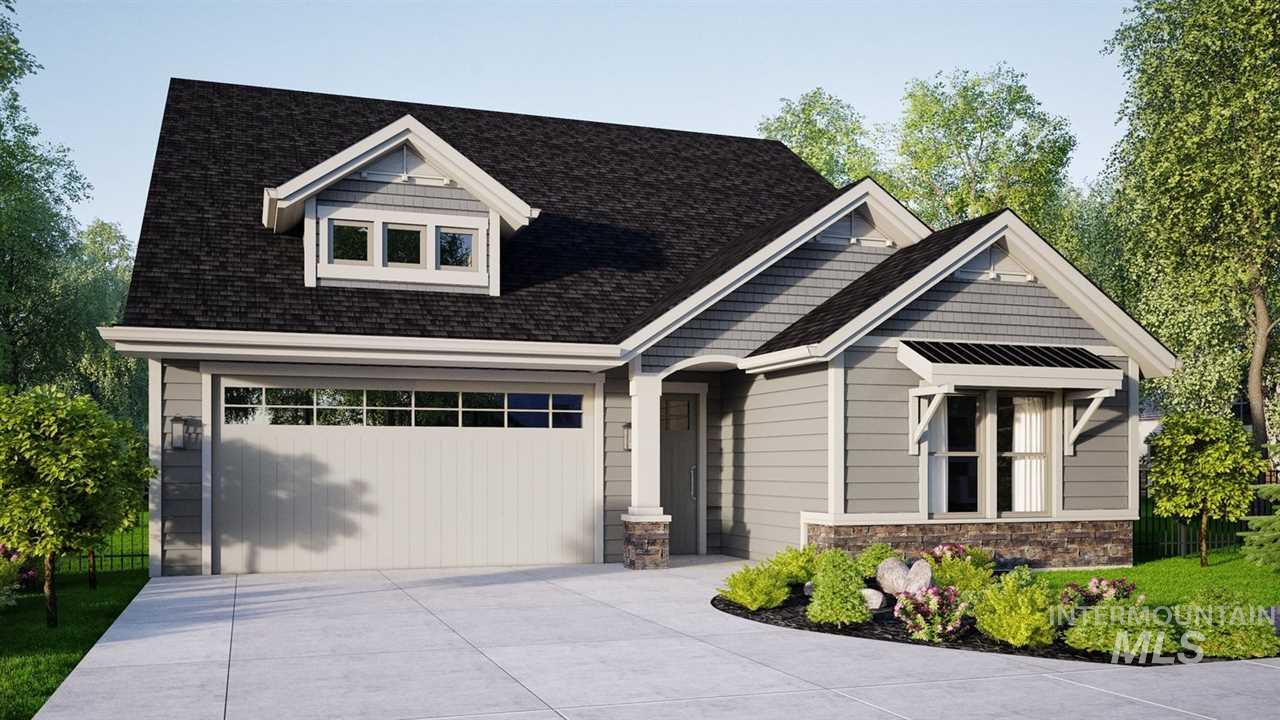 The ideal home designed for down sizing with up scale living. Open floor plan with 10' ceilings, coffers and fireplace. You'll find plenty of windows to bring in all the light. The large backyard patio off the dining room gives you the perfect barbecuing area and pot gardening. Gourmet kitchen features custom cabinets, walk in pantry, upscale Gas appliances with separate cook top, built in oven microwave combination with large island for gathering around. Relax in the master suite with large walk in shower.